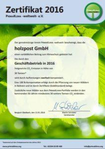Holzpost_primaklima_2016